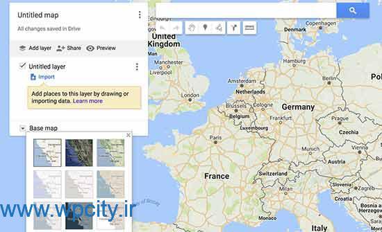 نمایش گوگل مپ در وردپرس
