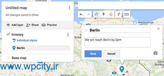 نمایش نقشه گوگل مپ در وردپرس