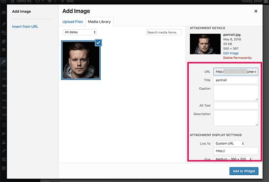 نحوه اضافه کردن تصاویر در ابزارک