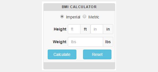 افزونهCC BMI Calculator
