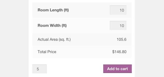 افزونهMeasurement Price Calculator