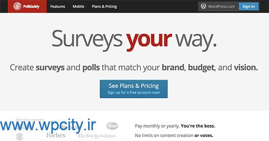 افزونه Polldaddy Polls and Ratings